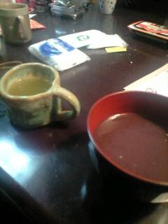 煎茶とお汁粉